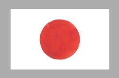 Bandera de Japón de la acuarela Ilustración del vector Imagenes de archivo