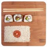 Bandera de Japón del sushi Fotografía de archivo