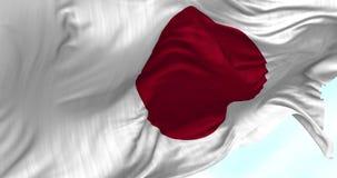 Bandera de Japón en el viento stock de ilustración