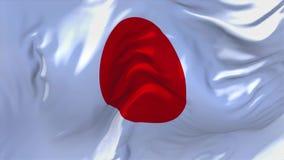 Bandera de Japón que agita en fondo inconsútil continuo del lazo del viento ilustración del vector