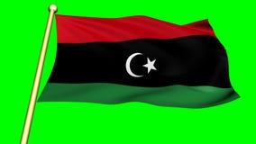 Bandera de Kenia, África almacen de metraje de vídeo