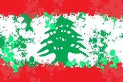 Bandera de Líbano con el chapoteo de la pintura Imagenes de archivo