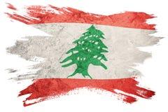 Bandera de Líbano del Grunge Bandera de Líbano con textura del grunge Str del cepillo ilustración del vector