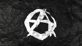 Bandera de la anarquía almacen de metraje de vídeo