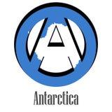 Bandera de la Antártida del mundo bajo la forma de muestra de la anarquía ilustración del vector