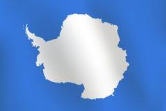 Bandera de la Antártida - ejemplo del vector ilustración del vector