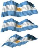 Bandera de la Argentina ilustración del vector