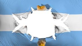 Bandera de la Argentina con un agujero grande libre illustration