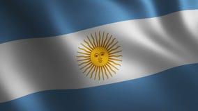 Bandera de la Argentina que agita 3d abstraiga el fondo Animación del lazo