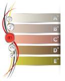 Bandera de la barra de la etiqueta con ABCDE Fotografía de archivo