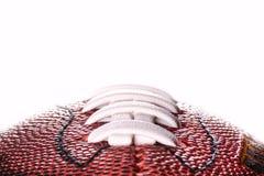 Bandera de la bola del fútbol americano en el fondo blanco y lugar para el texto Foto de archivo