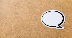 Bandera de la burbuja del discurso fotografía de archivo libre de regalías