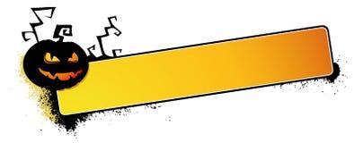 Bandera de la calabaza de Víspera de Todos los Santos stock de ilustración