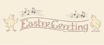 Bandera de la caligrafía del saludo de Pascua libre illustration