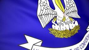 Bandera de la cantidad de colocación de Luisiana ilustración del vector