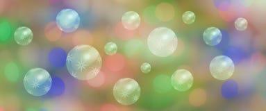 Bandera de la celebración del panorama con las burbujas de la estrella Fotos de archivo libres de regalías