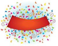 Bandera de la celebración Fotos de archivo libres de regalías