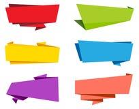 Bandera de la cinta de la etiqueta del vector Foto de archivo libre de regalías