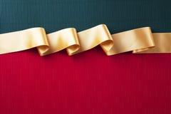 Bandera de la cinta del oro Fotos de archivo libres de regalías
