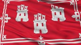 Bandera de la ciudad de Aberdeen, Reino Unido, opinión del primer stock de ilustración