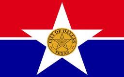 Bandera de la ciudad Dallas en Tejas, los E.E.U.U. fotos de archivo