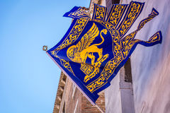 Bandera de la ciudad de Venecia, Italia Fotos de archivo
