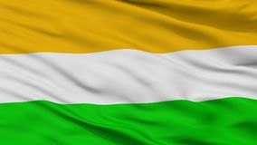Bandera de la ciudad de los acacias, Colombia, departamento de la meta, opinión del primer stock de ilustración