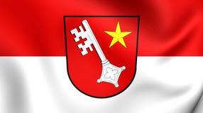 Bandera de la ciudad Renania-Palatinado, Alemania de los gusanos Imágenes de archivo libres de regalías