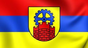 Bandera de la ciudad de Zabrze, Polonia Foto de archivo libre de regalías
