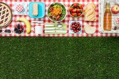 Bandera de la comida campestre imagen de archivo libre de regalías