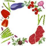 Bandera de la comida cruda fotografía de archivo libre de regalías