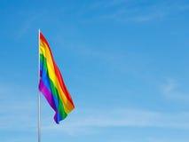 Bandera de la comunidad de LGBT Imagen de archivo libre de regalías