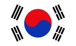 Bandera de la Corea del Sur, de las proporciones del elemento y de los colores Imagen de archivo libre de regalías