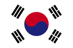 Bandera de la Corea del Sur Ilustración del vector Imagen de archivo