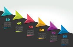 Bandera de la cronología de Infographic Plantilla gradual del informe stock de ilustración
