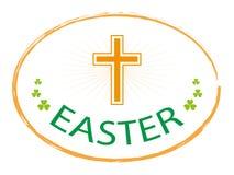 Bandera de la cruz de Jesús del día de Pascua Fotografía de archivo