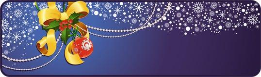 Bandera de la decoración de la Navidad Stock de ilustración