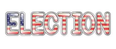 Bandera de la elección ilustración del vector