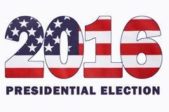 Bandera de la elección presidencial de los E.E.U.U. 2016 Fotos de archivo libres de regalías