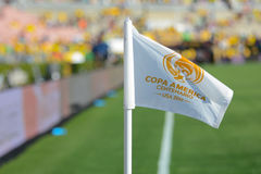 Bandera de la esquina del fútbol durante Copa América Centenario Fotos de archivo