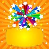 Bandera de la estrella del arco iris stock de ilustración