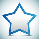 Bandera de la estrella del vector - marco de texto vacío Imagenes de archivo