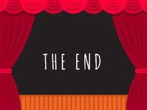 Bandera de la etapa del teatro Imagen de archivo libre de regalías