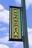 Bandera de la experiencia fotos de archivo libres de regalías