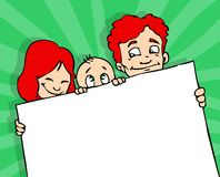 Bandera de la familia Imagen de archivo libre de regalías