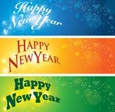 Bandera de la Feliz Año Nuevo ilustración del vector