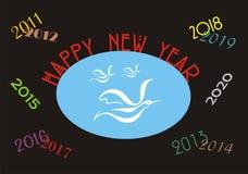 Bandera de la Feliz Año Nuevo fotos de archivo