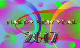 Bandera 2017 de la Feliz Año Nuevo Imágenes de archivo libres de regalías