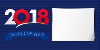 Bandera 2018 de la Feliz Año Nuevo stock de ilustración