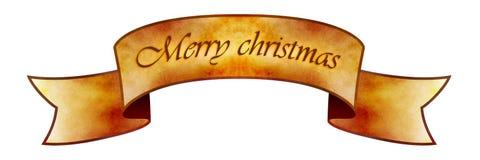 Bandera de la Feliz Navidad Imagenes de archivo